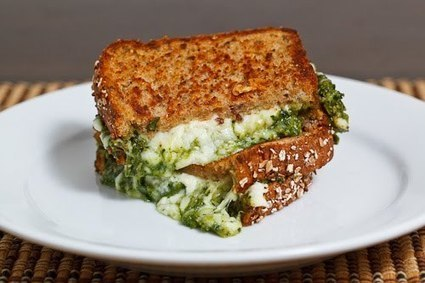 Spinach Pesto Grilled Cheese Sandwich | Ravish m.e. | Scoop.it