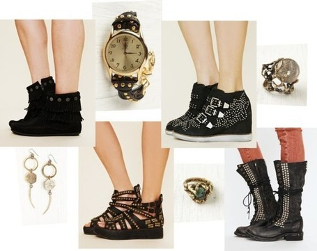 Tea with Grace: Jewelry and shoes from Free People; studs, gold and fringing galore | Grace's Fashion Picks | Scoop.it