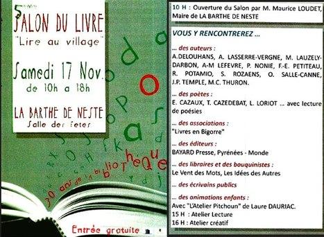 Salon du livre le 17 novembre à la Barthe-de-Neste | Vallée d'Aure - Pyrénées | Scoop.it