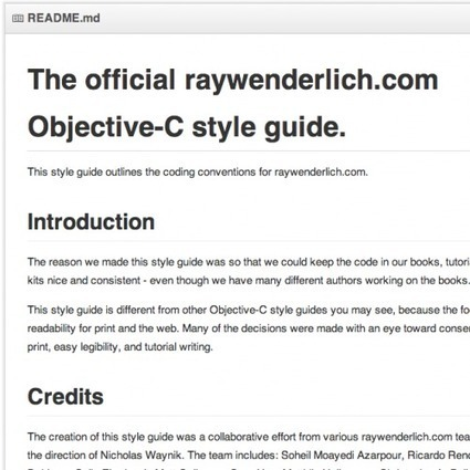 Introducing the raywenderlich.com Objective-C Style Guide | Ray Wenderlich | iOS Developer | Scoop.it