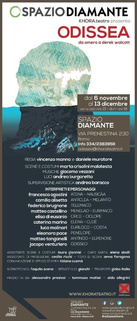 ODISSEA DA OMERO A DEREK WALCOTT allo Spazio Diamante di Roma :: Modulazioni Temporali | THE SCHOONER FLIGHT | Scoop.it