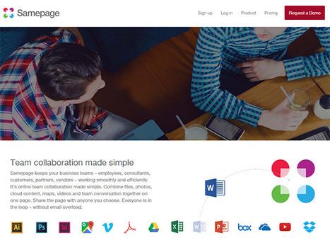 SamePage. Une seule et même page pour faciliter le travail collaboratif - Les Outils Collaboratifs | Usages numériques et Histoire Géographie | Scoop.it