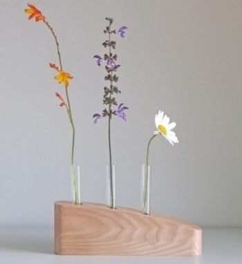 Artwork: 3 Stem Flower Vase in Elm - Open House Art | Art - Crafts - Design | Scoop.it