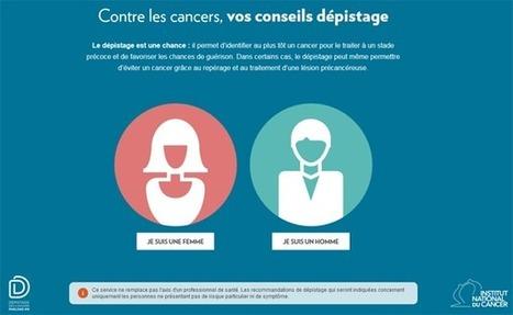 Cancer : des conseils dépistage en 2 clics par l'INCa | Buzz e-sante | Scoop.it