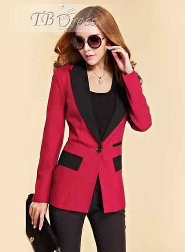 $ 31.19 Cool Slim Split Joint New Arrival Long Sleeves Korean Blazer   beauty   Scoop.it
