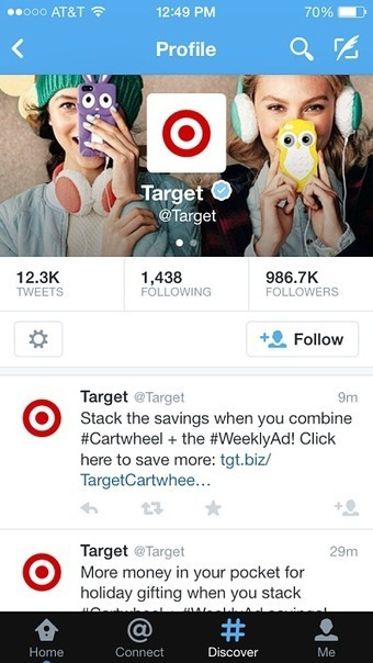 Target leads mass merchants in driving holiday strategy via Twitter - Social networks - Mobile Commerce Daily | Couponing, M-Couponing, E-Couponing, M-Wallet & Co. | Scoop.it