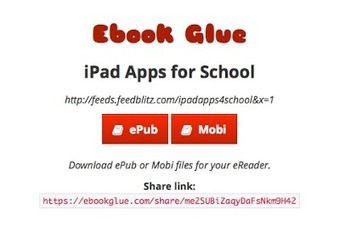 Free Technology for Teachers: Turn Your Blog Into an eBook With Ebook Glue | Edu-Recursos 2.0 | Scoop.it