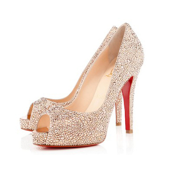 Very Riche Strass Nude 120mm Pumps [20131131] - $219.00 : bagbagsoutlets | bags outlet | Scoop.it