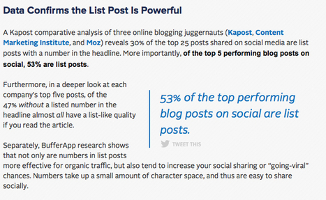 Ten Creative Ways to Use Lists in Content Marketing - Business 2 Community | Internet Marketing | Scoop.it