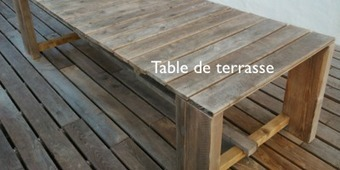 Recylcage de chantier : table de terrasse | Bricolage et rénovation | Scoop.it