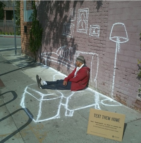 Looks interesting -- Text Them Home: Street Art Project for the homeless | Design thinking | Scoop.it