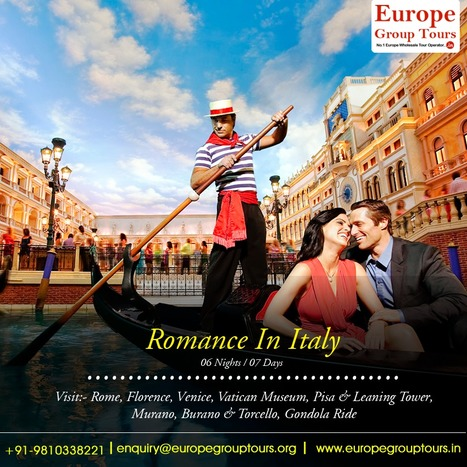 Italy Honeymoon Packages, Honeymoon Tours in Italy 2016. | Europe Group Tours, Holiday Packages, Travel Packages 2017 | Scoop.it