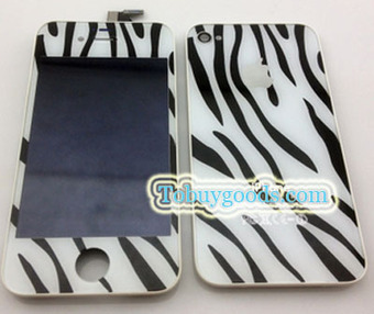 iPhone 4S White Zebra Pattern Conversion Kits LCD Assembly Repair Parts +Back Cover (4S Only)   here are some good goods form tobuygoods   Scoop.it