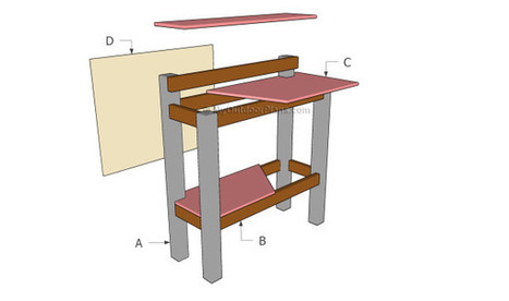 Stand Up Desk Plans | Free Outdoor Plans - DIY Shed, Wooden Playhouse, Bbq, Woodworking Projects | Home Repair | Scoop.it
