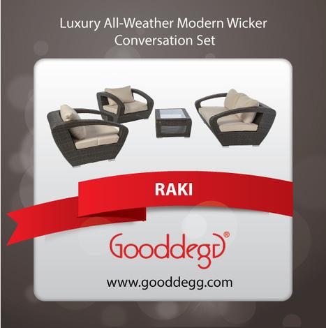 RAKI Luxury Modern Outdoor Conversation Set | Home Decor (Wicker Furniture) | Scoop.it