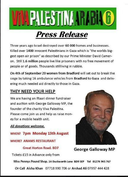 Muslim convert and Traitor Galloway in Bradford monday | Race & Crime UK | Scoop.it