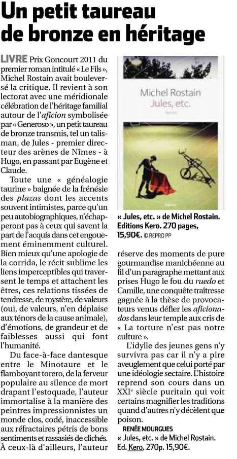 La République des Pyrénées nous parle de Jules, etc. | Michel Rostain | Scoop.it