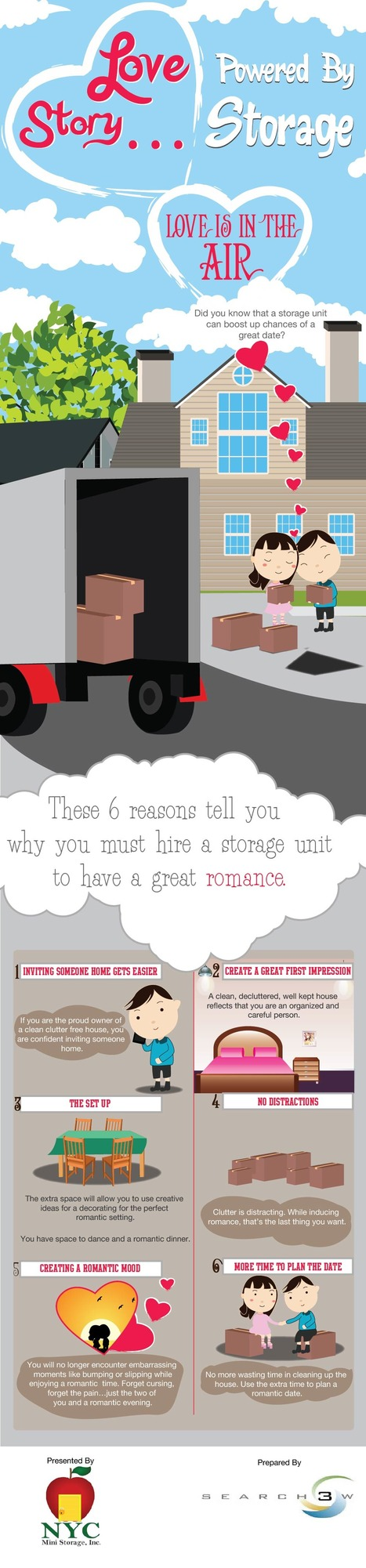 Love Story…Powered By Storage [Infographic | NYC MInistorage | Scoop.it