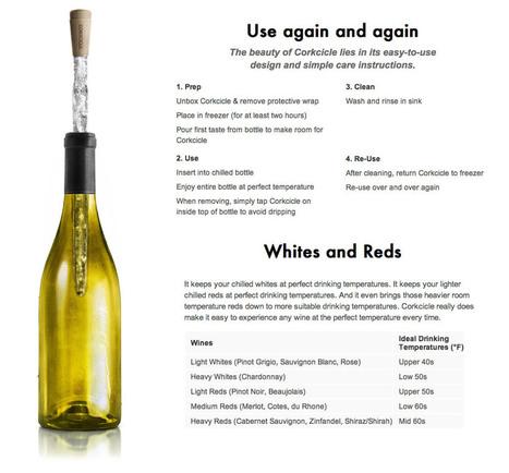 Corkcicle – Deixe seu vinho sempre gelado | Wine Pulse | Scoop.it