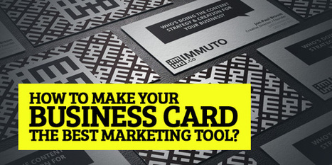 How to make your business card the best marketing tool? | Articles | Graphic Design Junction | Beanprint.com | Scoop.it