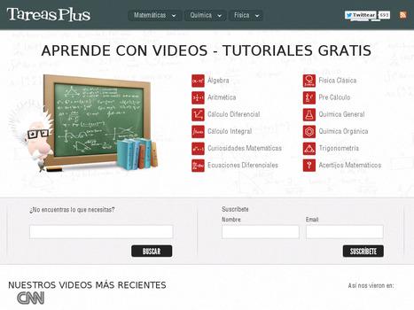 TareasPlus. Aprende matemáticas, física y química con videos | Todo Educativo | Scoop.it