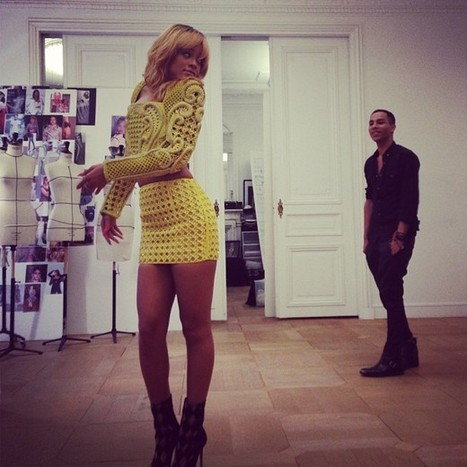 FASHION LOVER: Rihanna Takes Over The BALMAIN Offices   The ...   Bold Fashion   Scoop.it