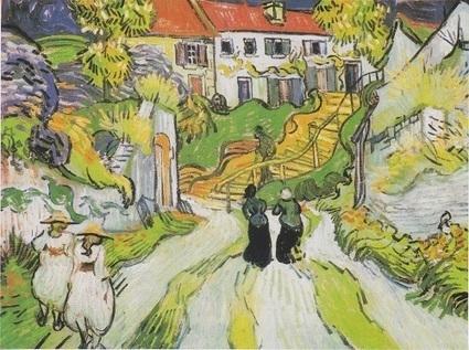 A história da pintura de Vincent van Gogh - Village Street and Steps in Auvers   ARTE, PINTURA, LITERATURA, MÚSICA, FOTOGRAFIA E...   Scoop.it