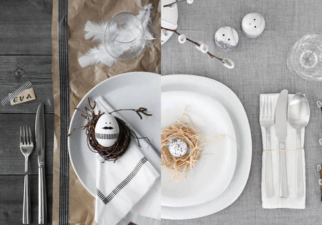 Pâques : une déco de table pas si kitsch | Le bricolage et les loisirs créatifs par Maison Blog | Scoop.it