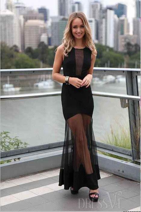 Black Sheer Mesh Hollow Maxi Dress | Dressve fashion | Scoop.it