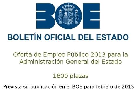 Oposiciones 2013: 1600 plazas en la Administración General del Estado | Oposiciones | Scoop.it