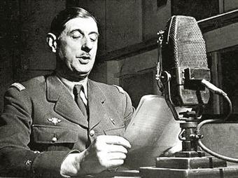 En Route pour l'Histoire: Selon moi le meilleur discours de De Gaulle, le 26 juin 1940, en réponse au discours de Pétain la veille. Hommage... | GenealoNet | Scoop.it