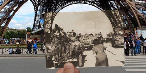 Des photos de la Libération insérées dans des photos actuelles | Communication | Scoop.it