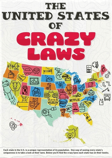 This US Map Shows The Craziest Laws By State And You've Definitely Broken A Few | enjoy yourself | Scoop.it