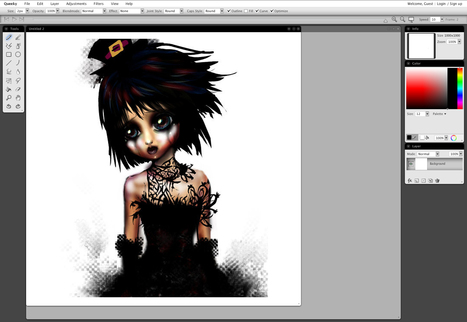 QueekyPaint - online drawing and painting tools | CRÉER - DESSINER EN LIGNE | Scoop.it