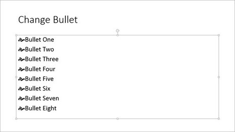 Use Dingbats and Other Characters as Bullets in PowerPoint 2013 | Microsoft PowerPoint Training | Scoop.it