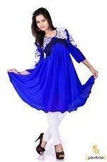 Charming Blue Casual Stylish Kurit   Pavitraa   Scoop.it