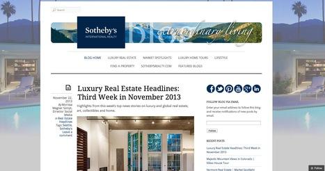 Sotheby's International Realty® Blog | Beaux sites WordPress | Scoop.it