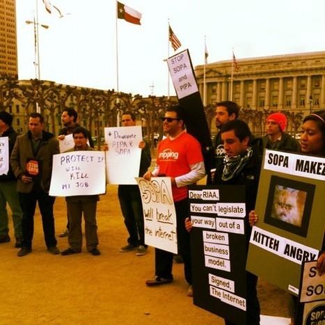 SOPA protest in SF - via @axelletess | L'Atelier Numérique | Scoop.it