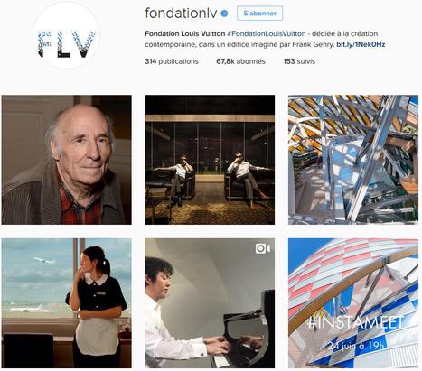 [DOSSIER CLIC] La Fondation Louis Vuitton a connu une hausse de 14% de ses abonnés Instagram en juin 2016.   Musées et numérique   Scoop.it