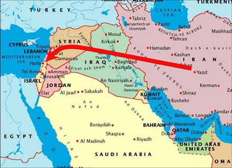 Friday: MAP #Iraq gov aiding the #Iran allowing them to use Iraqi airspace to ferry supplies to #Syria | News from Syria | Scoop.it