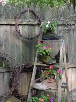 Greatest Garden Art from Junk | FLOWERS | Scoop.it