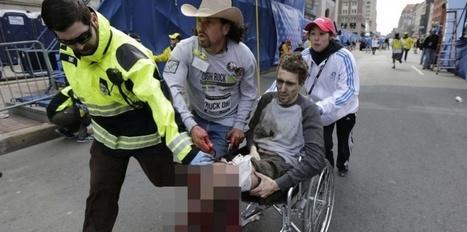 Attentat de Boston : un jeune homme à la jambe arrachée, la photo qui fait débat | Les médias face à leur destin | Scoop.it