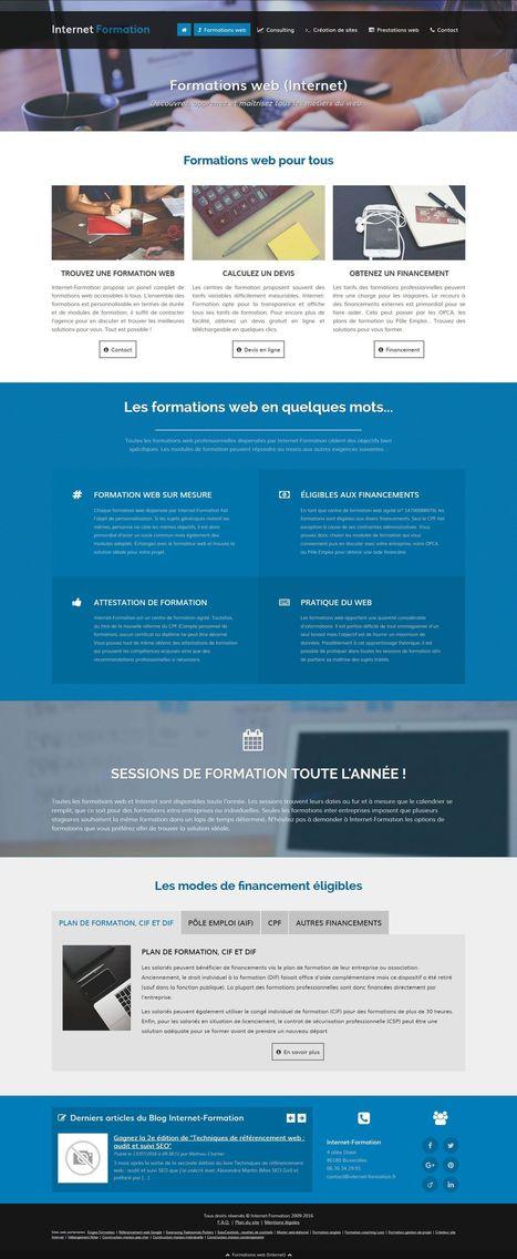 Internet-Formation change de design web et devient responsive ! | Développement et webdesign | Scoop.it