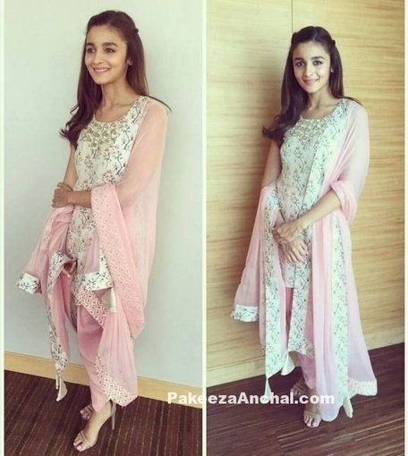 Alia Bhatt in Pink Churidar Salwar Suit by Payal Singhal | Indian Fashion Updates | Scoop.it