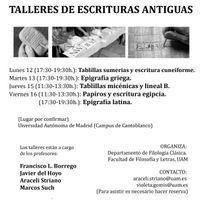 TALLERES DE ESCRITURA DURANTE LA SEMANA DE LA CIENCIA DE LA COMUNIDAD DE MADRID   Docencia de las lenguas clásicas   Scoop.it