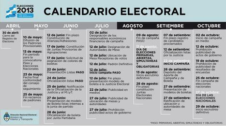Calendario electoral | Guada Neme | Scoop.it