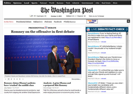 Twitter and fact-checking dominated second screens during presidential debate - Lost Remote | Design thinking | Scoop.it