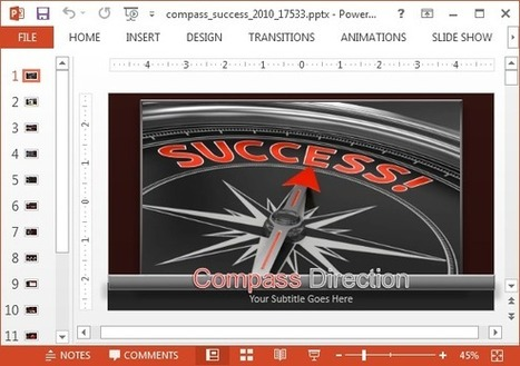 Animated Success Compass PowerPoint Template | PowerPoint presentations and PPT templates | Scoop.it