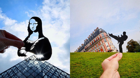 British photographer uses paper cutouts to cheekily transform European landmarks | Visual & digital texts | Scoop.it