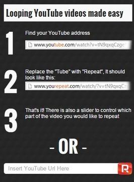 4 astuces et sites pour répéter une vidéo YouTube automatiquement | Au fil du Web | Scoop.it